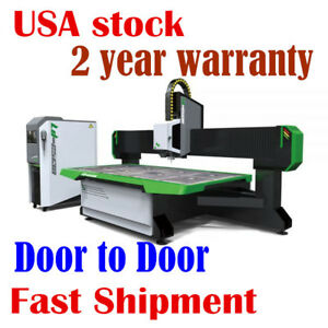 3axis 9kw Air Cooling Wood Cnc Router Machine 98 X 51 With Vacuum System Usa