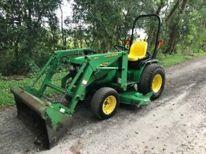 John Deere 4100 Diesel 4x4 60 Mower Deck Loader 3 Pt Hitch Hydrostatic 770 Hrs