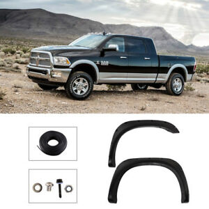 New Black Bolt on Rivet Fender Flares For 02 08 Dodge Ram 1500 3500 2003 2009