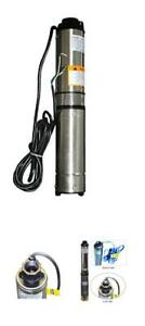 Pump Deep Well Submersible 4 Stainless Water Steel Gpm Ft Max 230v Long Life 2hp