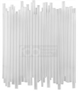 12000 case 7 3 4 Jumbo Clear Unwrapped Soda Straw Commercial Box Wholesale