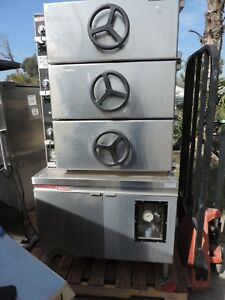 Commercial Food Steamer market Forge Pressure 3 Comp With Heat Chamber Gas