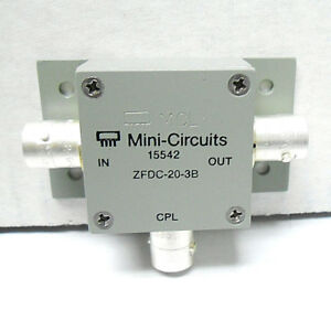 Zfdc 20 3b Mini Circuits Directional Coupler Smb Snc New Old Stock