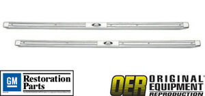 New Oer 1959 1960 Pontiac Bonneville Catalina 2 Door Sill Scuff Plates Pair