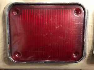 Whelen Eng Co Model 97 Series Red Lens Cover With Flange And Rubber Gasket