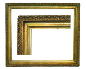 Antique Large Picture Frame Lemon Gold 26 1 2 X 31 Overall