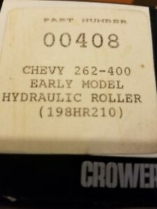 Crower Cams 00408 Sbc 262 400 Early Model Hyd Roller 198hr210 New In Box