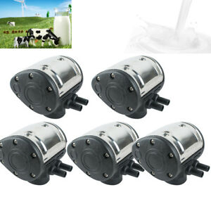 5pcs Portable L80 Pneumatic Pulsator Cow Milker Milking Machine Dairy Farm