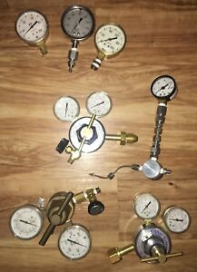Fisher Scientific Pressure Regulator Valve Lot Gauges harris Valve