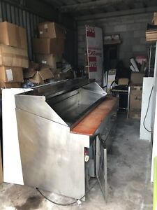 8ft sandwich Refrigerated Prep Table