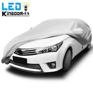 Full Car Cover Waterproof Outdoor Breathable All Weather Protection Fits Sedans