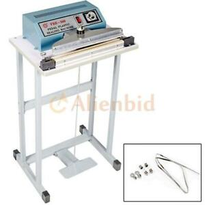 New 300mm Foot Pedal Impulse Sealer 110v 12 350w Plastic Bag Heat Seal Machine