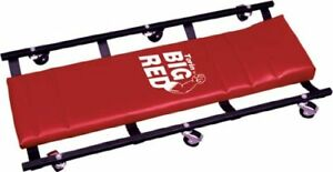 Torin Big Red Rolling Garage shop Creeper 36 Padded Mechanic Cart With 6 Caste