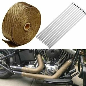1 Roll 2 X 50ft Exhaust Manifold Titanium Heat Wrap High Heat Fiberglass