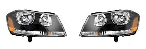 2008 2014 Dodge Avenger Headlight Headlamp Rt Model Left And Right Pair Set