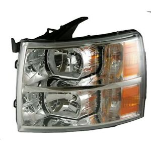 Fit 2007 2008 2009 2010 2011 2012 2013 Chevrolet Silverado Headlight Left