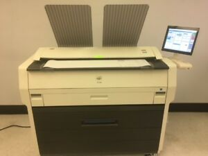 Konica Minolta Kip 7170 Wide Format Copier Printer Scanner free Shipping W Bin