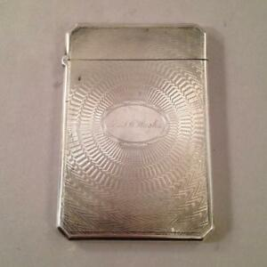 Coin Silver Card Case By Albert Coles Mrs J W Hughes New York
