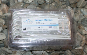 Disposable White Dental Mouth Mirror 4 5 3x20 pack Vista 307001