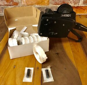 Meto 5 16 516 Price Label Gun With Labels And Ink Rollers Pre Owned