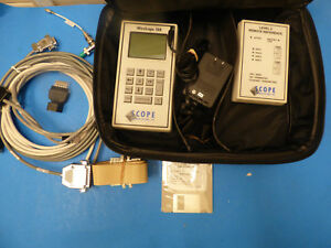 Scope Communication Wirescope 100 Cable Analyzer Remote 12106 W Case