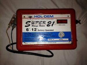 Hol Dem Super 21 Electric Fence Controller 6 12 Volt Battery Operated