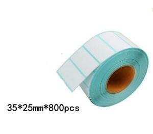 35 25 800pcs 15rolls Blank Stickers Self Adhesive Thermal Shipping Label