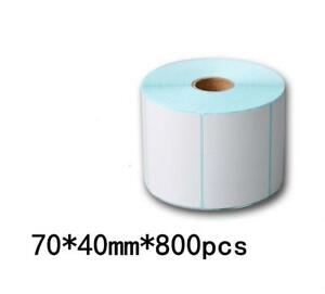 70 40 800pcs 5rolls Blank Stickers Self Adhesive Thermal Shipping Label