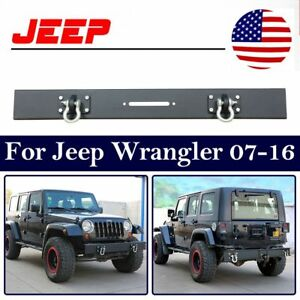 Rear Jeep Bumper For 87 06 Wrangler Tj Yj Rock Crawler Black Tire Carrier