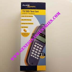 Fluke Networks Ts25d Test Set With Piercing Pin Bon 52801009 New