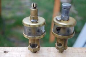 2 Gits Bros brass Oiler Hit Miss Engine Steam Antique Train For Parts Oilers
