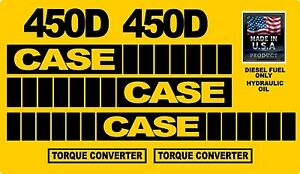 Reproduction Case Dozer Crawler 450d Torque Converter Sticker Decal Kit Decals