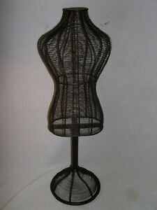 Metal Wire Tabletop Small Torso Body Form