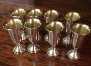 8 Sterling Silver Web 28 Cordial Cups Has An Engraved E