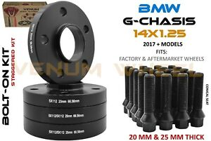 Full Set Of Bmw 5x112 G Chassis 20mm 25mm Wheel Spacer Staggered Kit 66 56