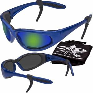 Hercules Safety Glasses Blue Frame Transitions Clear Smoke Yellow And Mirror