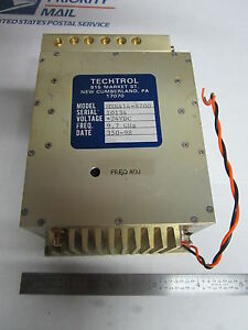 Techtrol Microwave 9 7 Ghz Oscillator Frequency Rf Made In Usa