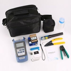 Ftth Fiber Optic Tool Kit Fiber Cleaver Optical Power Meter Wire Stripper My