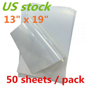 Screen Printing Waterproof Inkjet Milky Transparency Film 13 X 19 50 Sheets us