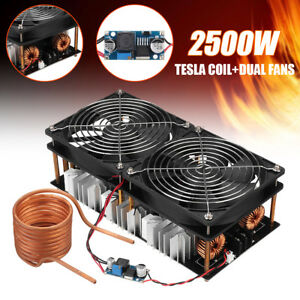 2500w Zvs Induction Heating Board Module Flyback Driver Heater tesla Coil fan
