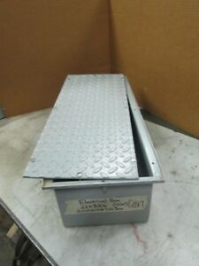 Electrical Box Enclosure Inc Diamond Plate Cover Underground Junction Box new