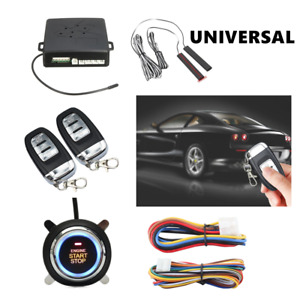 Pke Car Alarm System Passive Keyless Entry Push Remote Engine Start stop Viable