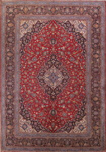 Super Decorative Vintage Floral 10x14 Wool Kaashaan Oriental Area Rug