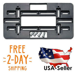 All Audi Front Rear License Plate Holder Mount Tag Bracket Bumper