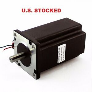 4 Pcs Dual Shaft 3 8 Shaft Stepper Motor Nema23 570oz in 5a