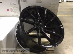 19 Staggered 8 5 9 5 Gloss Black Swirl Concave Style Wheels Rims 5x114 3
