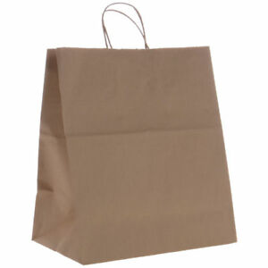 Brown Paper Shopping Bag With Handles 16 X 13 24672