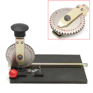 Manual Stamping Embosser Embossing Machine Metal Deboss Plate Dog Tag Printer