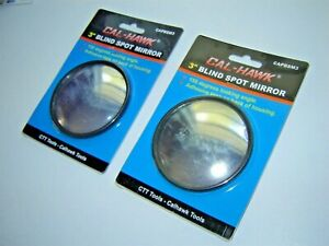 2 Pc Set 3 Inch Round Stick On Blind Spot Wide View Angle Mirrors
