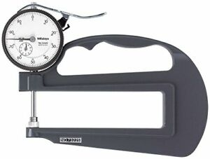 Mitutoyo 7322s Dial Thickness Gauge Flat Anvil Inch 120mm Throat Depth 0 1